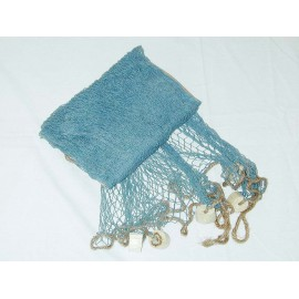 Decorative fishing net, blue colour, w/swimmers, 250x250cm