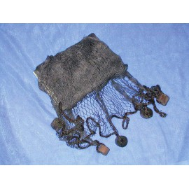 Decorative fishing net, brown colour, w/swimmers, 250x250cm