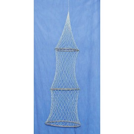 Decorative fish trap, 3 rings, L: 100cm