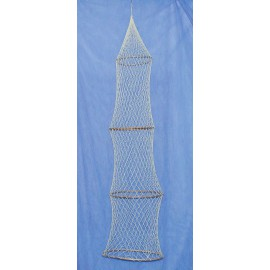 Decorative fish trap, 4 rings, L: 135cm