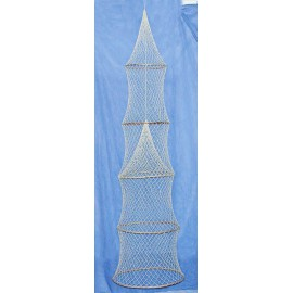 Decorative fish trap, 5 rings, L: 180cm