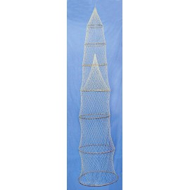 Decorative fish trap, 7 rings, L: 230cm