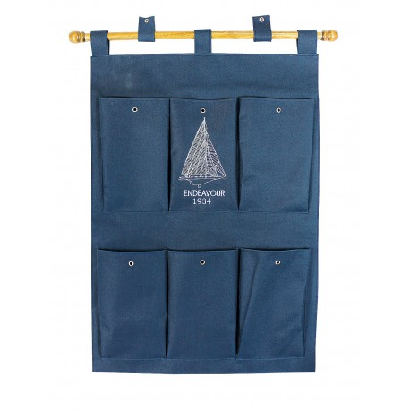 Canvas wall hanging organizer, 46/54x65/70cm