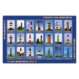 Placemat, german lighthouses, plastic, 43x29cm