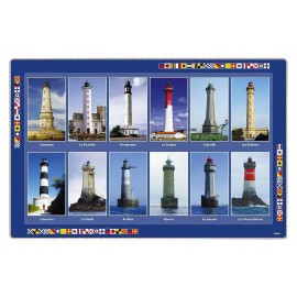Placemat, french lighthouses, plastic, 43x29cm