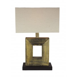 Lamp with shade, electric 230V, E27, 60W, H: 60cm, 35x18cm
