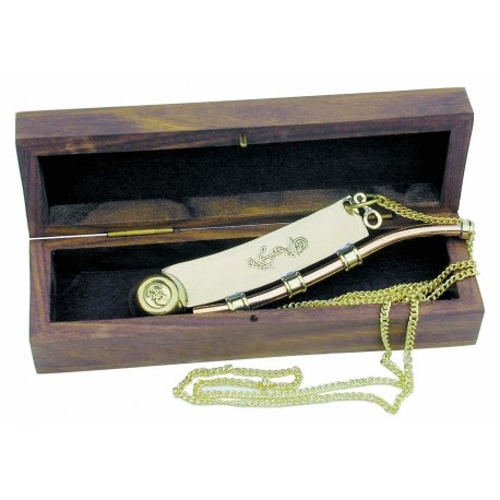 Boatswain's whistle with chain