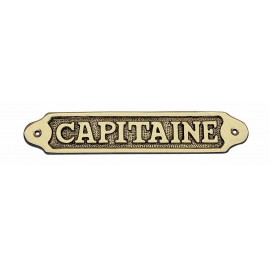 Door name plate - CAPITAINE, brass, 19x3,5cm