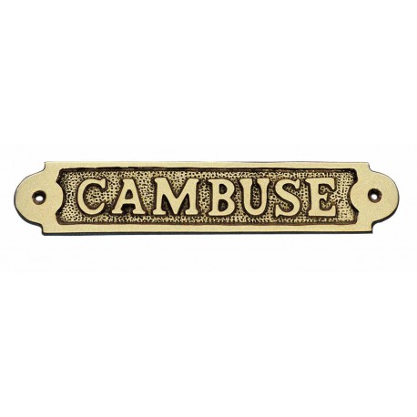 Door name plate - CAMBUSE, brass, 19x3,5cm