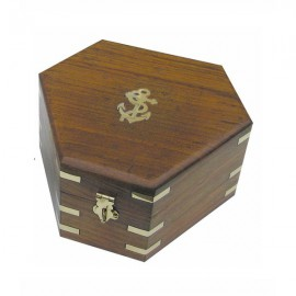 Box for sextant 8200S, wood, 17,5x15,5x8,5cm