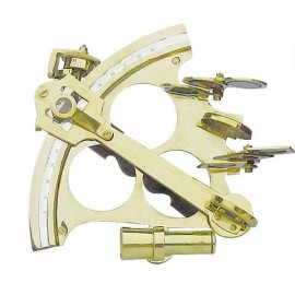 Sextant, with micrometer, brass, 21x20cm