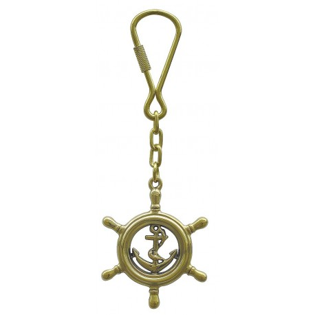 Keyring - Steering wheel with anchor