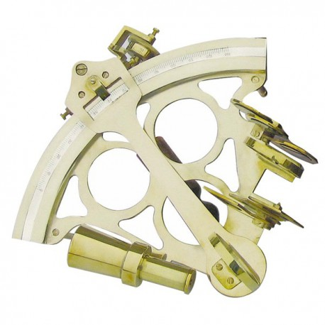 Sextant, with micrometer, brass, 23x23,5cm