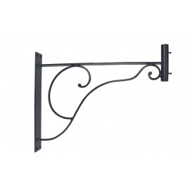 Wall bracket for weather vanes, iron black lacquered, 48,5x38x5cm