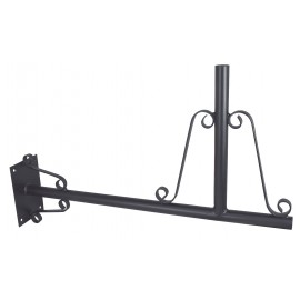 Wall bracket for weather vanes, iron black lacquered, 61x37,5x10cm