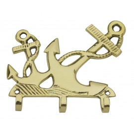 Keyring holder - Anchors, brass, 13x11cm