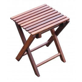 Folding stool, wood, 30x26,5x37cm