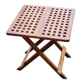 Folding table, wood, 50x50x50cm