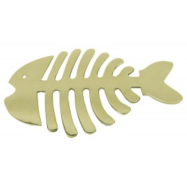 Pot-mat - Fish, brass, 26,5x17,5cm