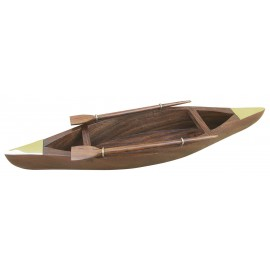 Bowle - Rowing Boat, wood/brass, L: 36cm