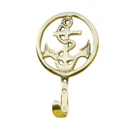 Hook - Anchor, brass, 8,5x13,5x3cm