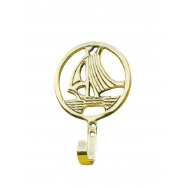 Hook - Sailing Yacht, brass, 8,5x13,5x3cm