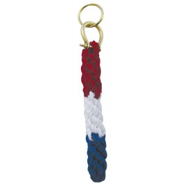 Keyring - Bell rope, cotton/brass, tricolor
