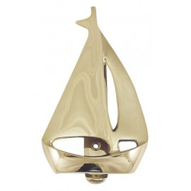 Door knocker - Sailboat, brass, 9x15cm