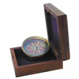 Compass with wind rose dial
