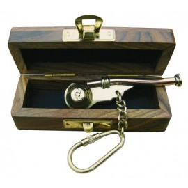 Keyring - Boatswain's Whistle in wooden box