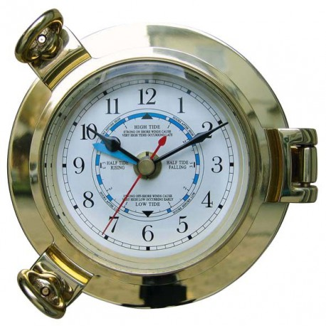 Tide Clock in brass porthole
