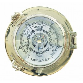Barometer in brass porthole