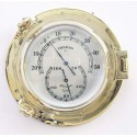Thermo- & Hygrometer in brass porthole
