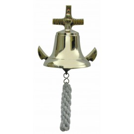 Bell with an anchor as wall bracket