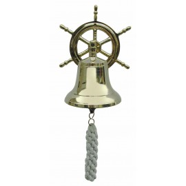 Bell with a Steering Wheel as wall bracket