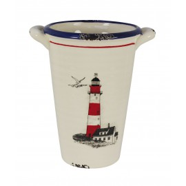 High pot with lighthouse design