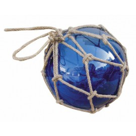 Fishermen's glass ball in net