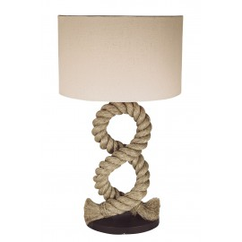 Pier lamp with shade