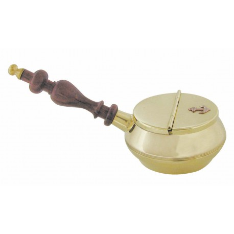 Ashtray with wooden handle
