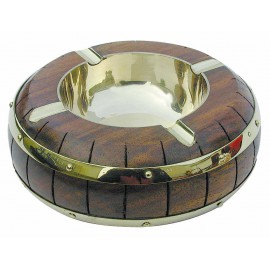 Ashtray in barrel shape