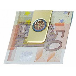 Money Clip - Compass Rose, brass, lacquered, 5x2,5cm