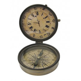 Compass with clock