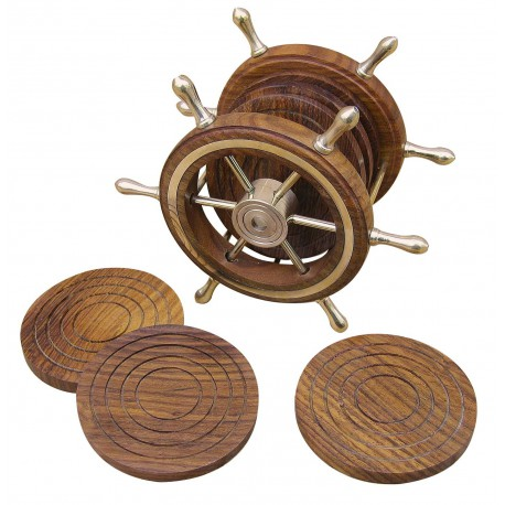 6 coasters in wheel stand