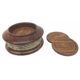 Coaster set with rope