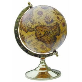 Globe, brass, lacquered, H: 14cm