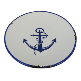 Plate with anchor design Ø: 15,5cm