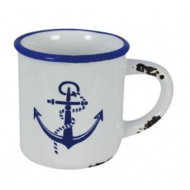 Cup with handle with anchor design