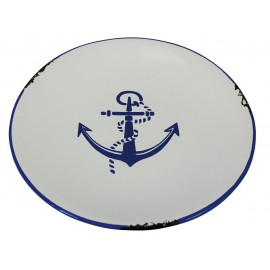 Plate with anchor design, Ø: 20cm